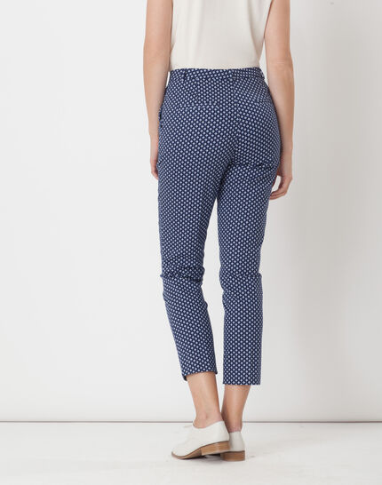 Rumba blue tailored jacket with polka dots (4) - 1-2-3