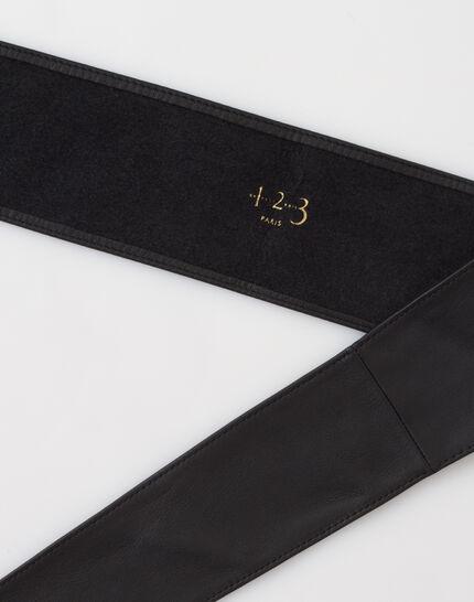 Odile wide black leather belt (3) - 1-2-3