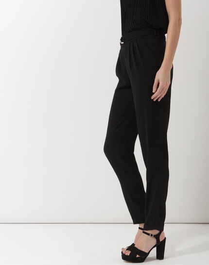 Douguy black tapered cut trousers (5) - 1-2-3