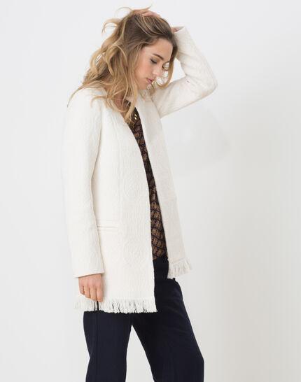 Quamille white coat with fringing (3) - 1-2-3