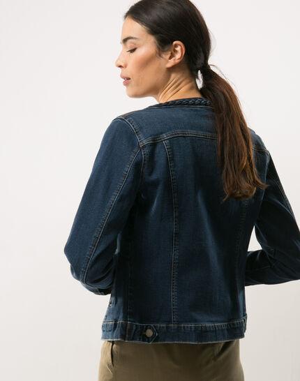 Uma denim jacket with braided collar (6) - 1-2-3