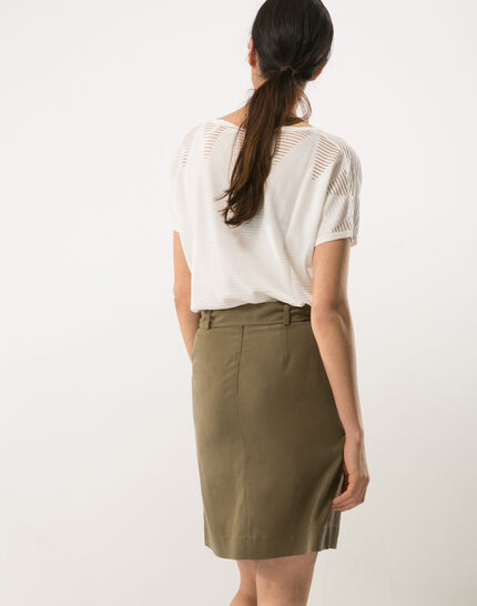 Dolce khaki skirt lyocell (4) - 1-2-3