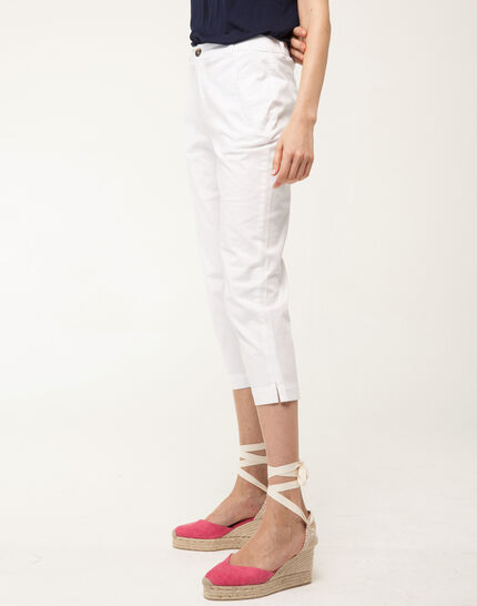 Filibert light white cropped trousers (3) - 1-2-3