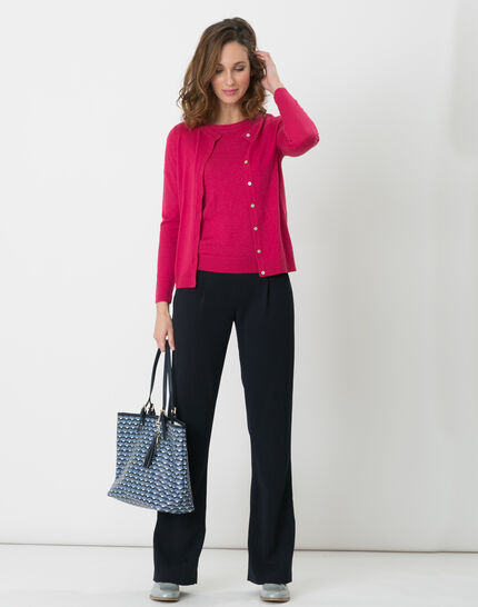 Happy fuchsia top with short sleeves (2) - 1-2-3