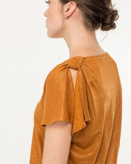 Nuba linen T-Shirt in ochre (2) - 1-2-3