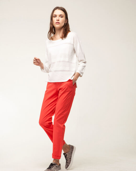 Holly twist-knit white sweater (1) - 1-2-3