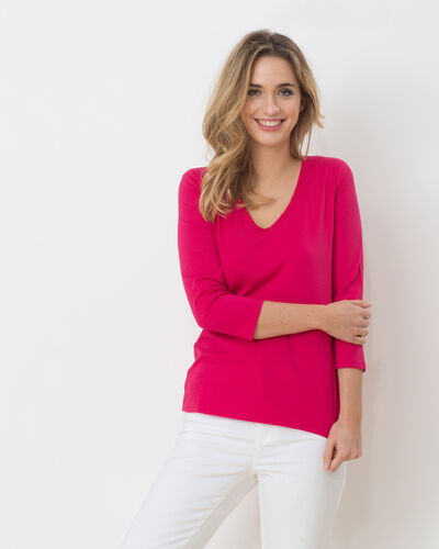 Tee-shirt fuchsia Nacre (1) - 1-2-3