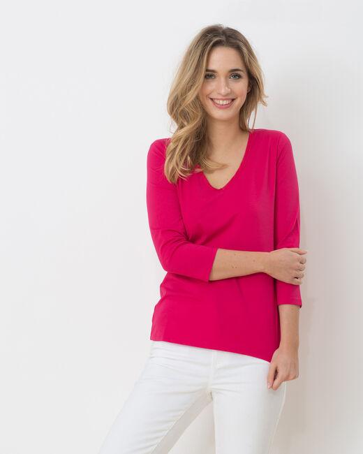 Tee-shirt fuchsia Nacre (2) - 1-2-3