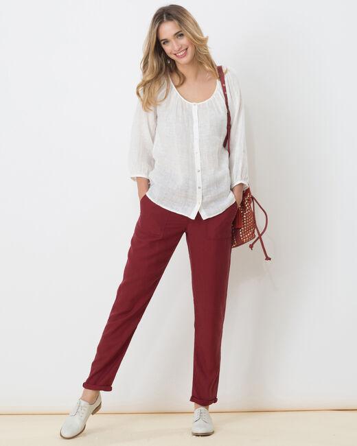 Pantalon chino rouge tomette Dana (2) - 1-2-3