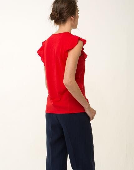 Tee-shirt rouge Nathalie (5) - 1-2-3