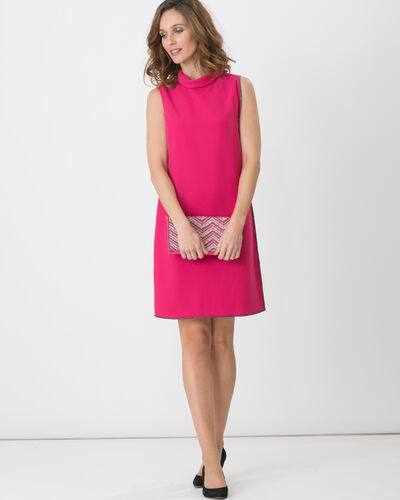 Fiesta fuchsia dress with draping (1) - 1-2-3