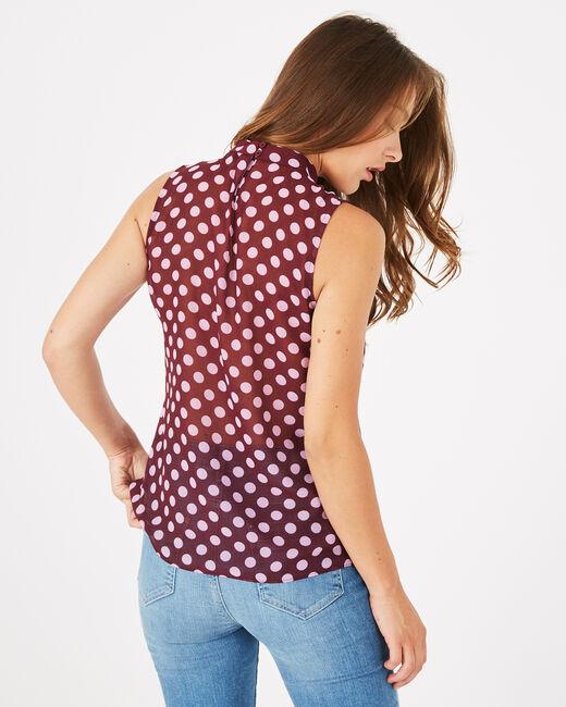 Dolène blackcurrant polka dot top (2) - 1-2-3