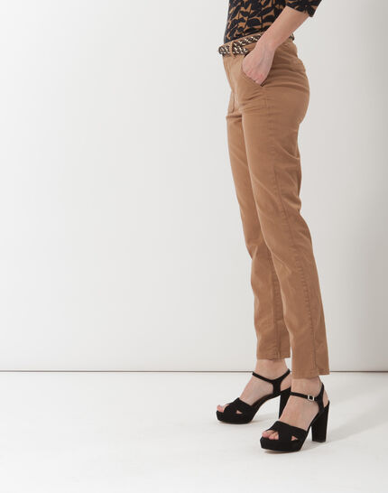 Denis 7/8 length camel trousers with large combat-style pockets (3) - 1-2-3