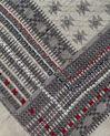 Souad cotton grey printed scarf (3) - 1-2-3