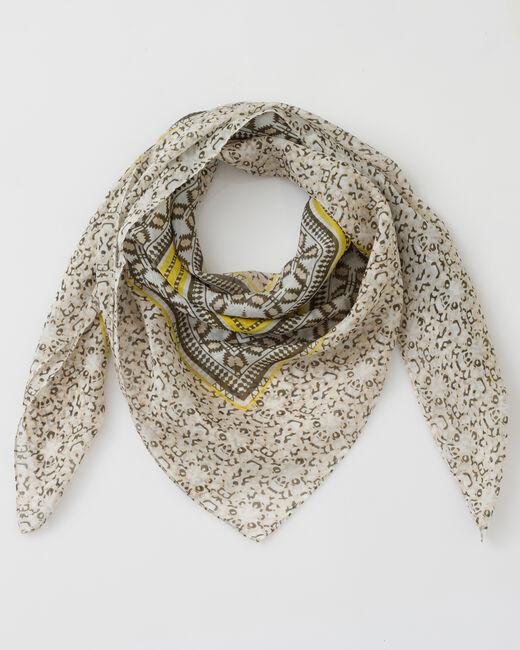 Saskia olive floral print scarf (1) - 1-2-3