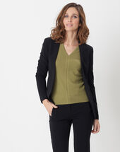 Maite black jacket with belt black.