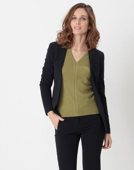 Maite black jacket with belt PhotoZ | 1-2-3