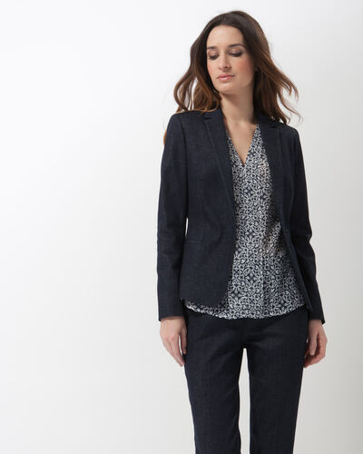 Aurore denim tailored jacket (2) - 1-2-3