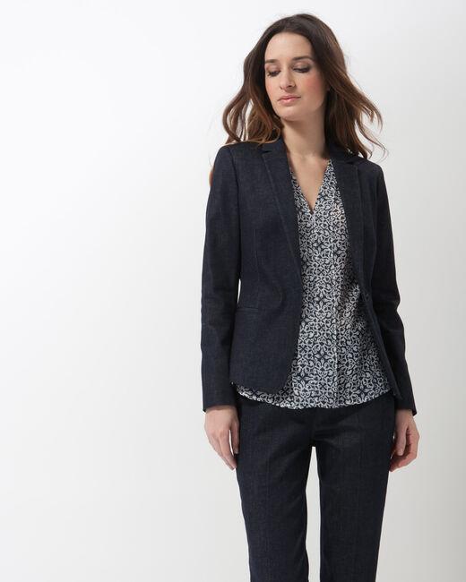 Aurore denim tailored jacket (2) - 1-2-3