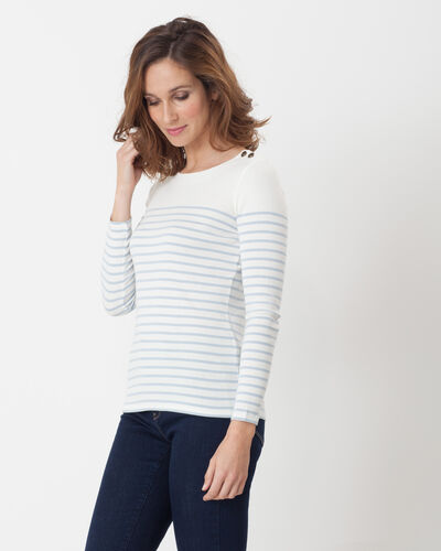 Naval striped sky blue T-shirt (2) - 1-2-3