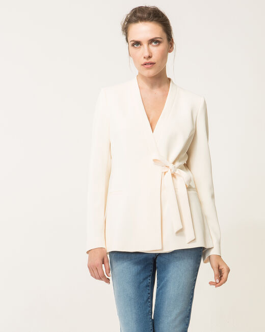 Angela vanilla tailored jacket (2) - 1-2-3