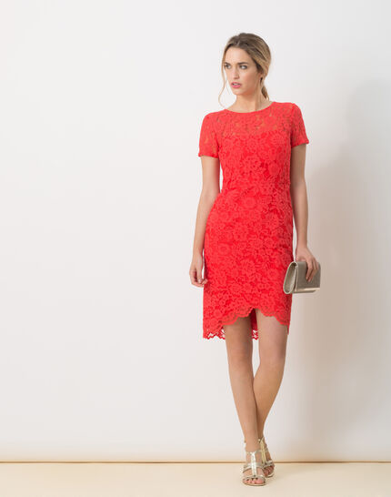 Friandise coral lace dress (6) - 1-2-3
