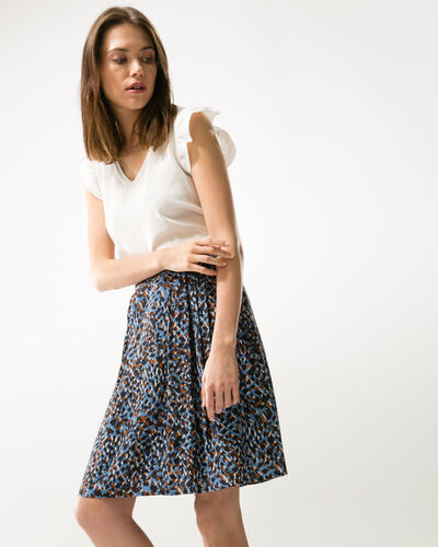 Key flowing printed skirt (2) - 1-2-3