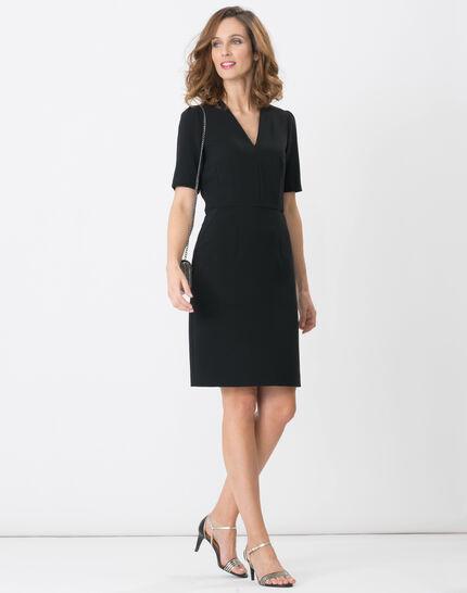 Bilbao black straight-cut dress (2) - 1-2-3