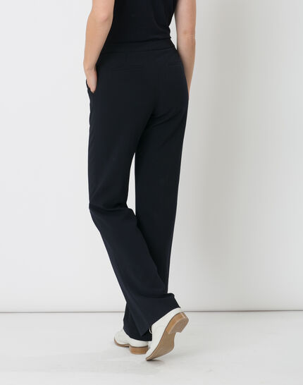 Rythme navy blue trousers with buckle at the belt (4) - 1-2-3