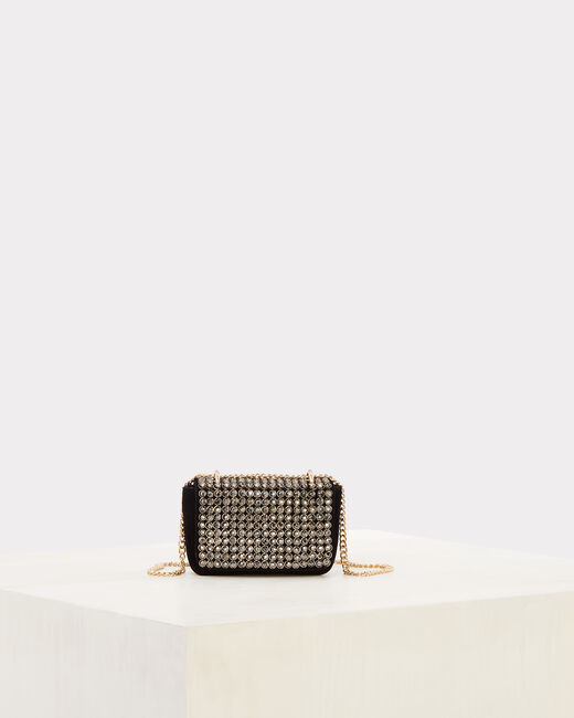 Rankal diamanté velvet clutch bag (1) - 1-2-3