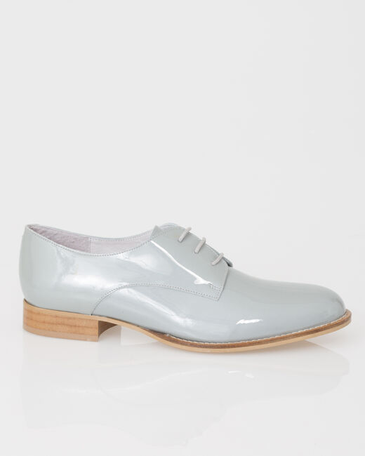 Jamie Derbies in grey patent leather (2) - 1-2-3