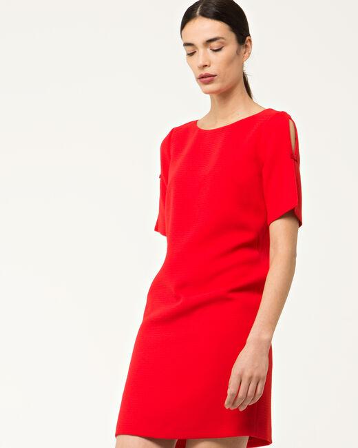 Robe rouge droite Bella (2) - 1-2-3