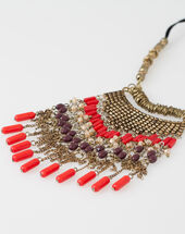 Wera ethnic necklace coral.