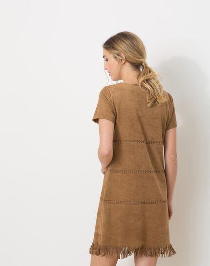 Boréal suede-style camel dress (5) - 1-2-3