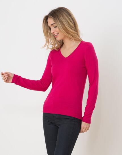Honorine fuchsia sweater with long sleeves (3) - 1-2-3