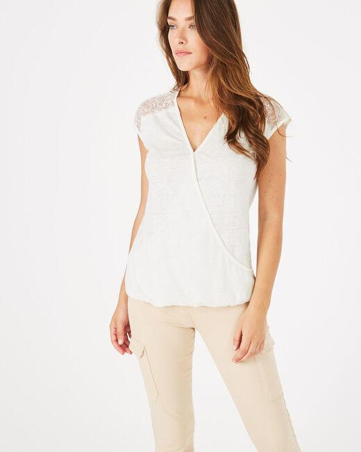 Noha ecru linen T-shirt (1) - 1-2-3