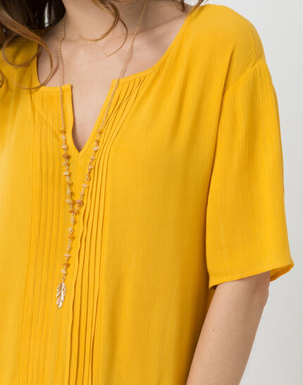 Esmee sunny yellow blouse with pagoda shirt (4) - 1-2-3