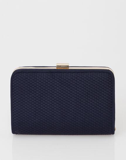 Pauline navy blue clutch bag PhotoZ | 1-2-3