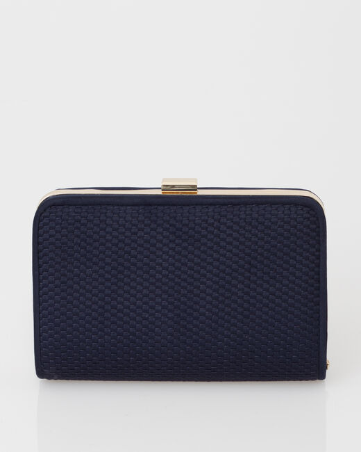 Pauline navy blue clutch bag (2) - 1-2-3