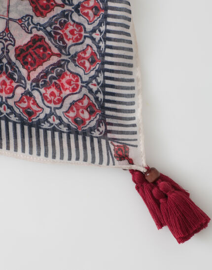 Servane indigo printed scarf (3) - 1-2-3