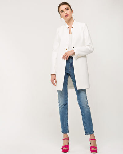 Quentin ecru cropped jacket (1) - 1-2-3