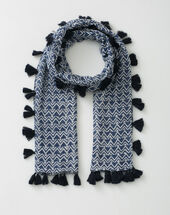 Solal navy blue printed scarf navy.