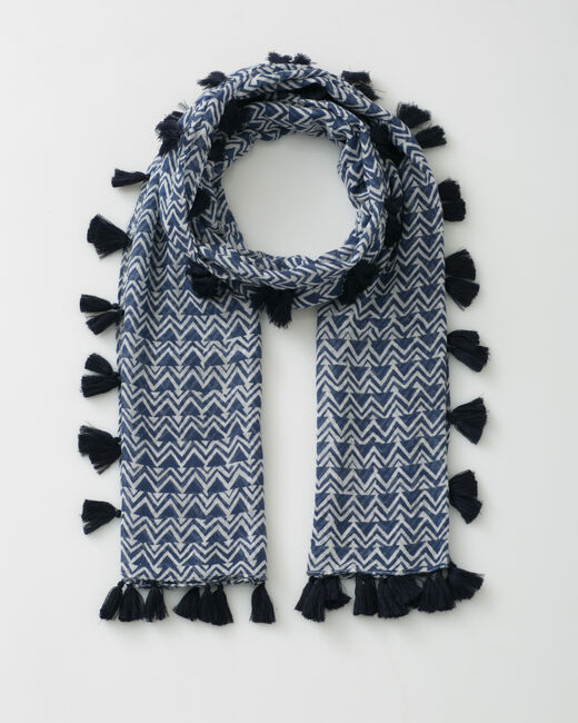 Solal navy blue printed scarf (1) - 1-2-3