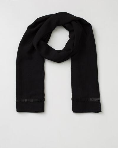 Sylviane black beaded stole (1) - 1-2-3