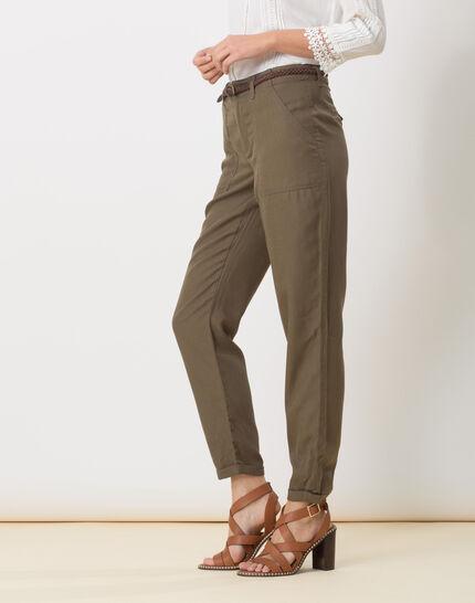 Dana flowing khaki combat trousers (3) - 1-2-3