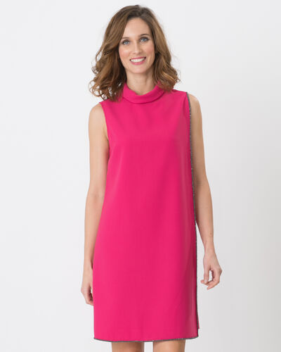 Fiesta fuchsia dress with draping (2) - 1-2-3