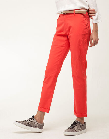 Francis orange 7/8 length trousers (6) - 1-2-3
