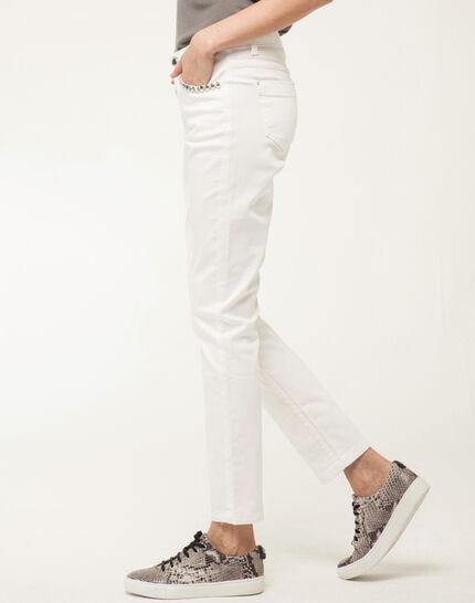 Inès 7/8 length studded white jeans (3) - 1-2-3