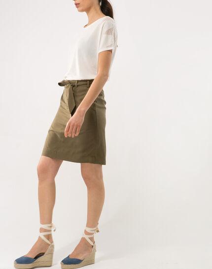 Dolce khaki skirt lyocell (3) - 1-2-3
