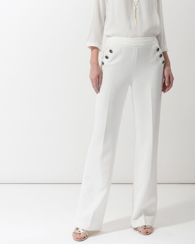 Pantalon large écru Romy (1) - 1-2-3